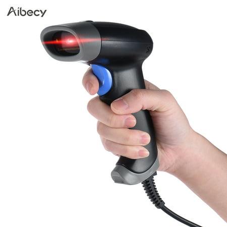 Aibecy 2D QR 1D USB Barcode Scanner CCD Red Light PDF417 Screen Scanning Bar Code