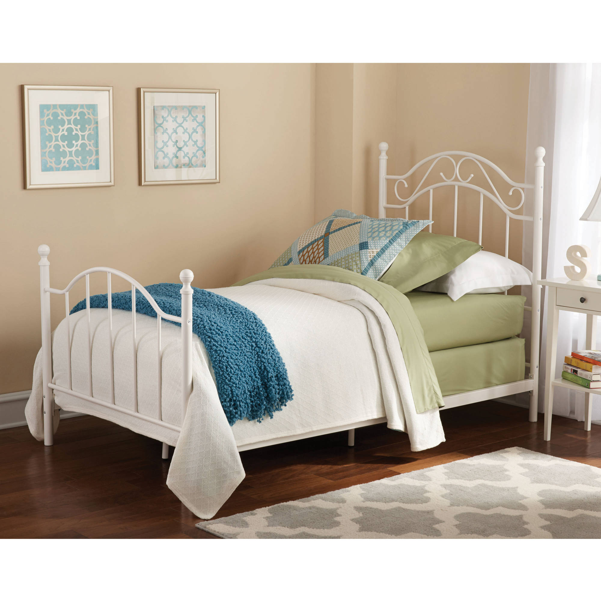 Mainstays Twin Metal Bed, Multiple Colors
