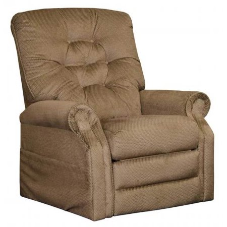 Power Lift Full Lay-Out Recliner in Brown Sugar Finish ()