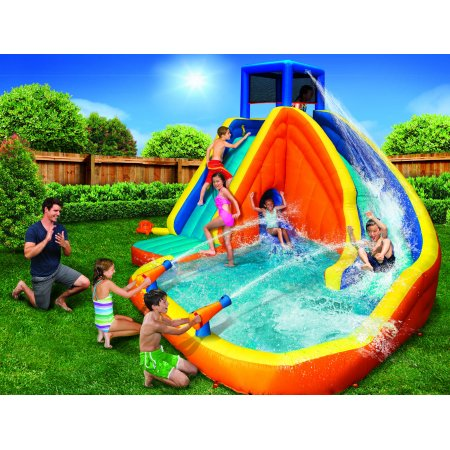 Banzai 10' Sidewinder Blast Water Park with Slide (Top Ten Best Water Slides)