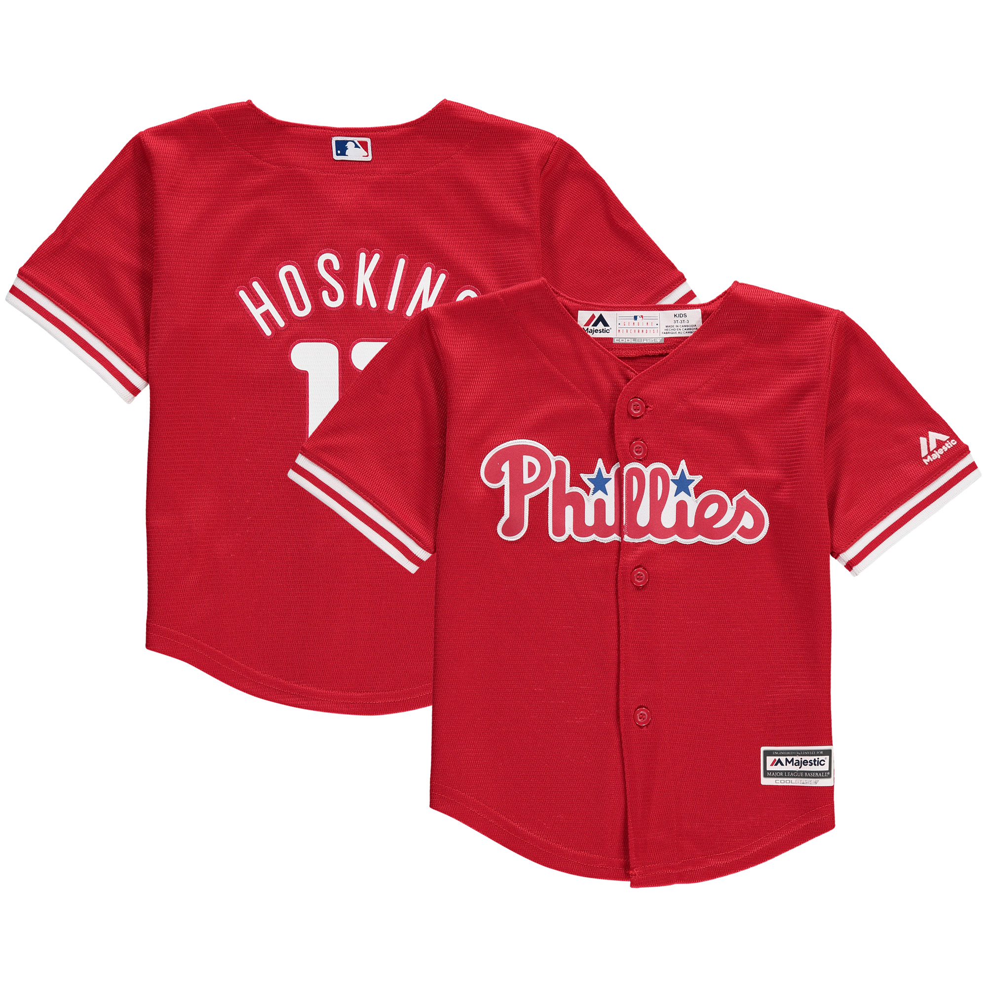 Rhys Hoskins Philadelphia Phillies Majestic Toddler Fashion Cool Base Replica Player Jersey - Red