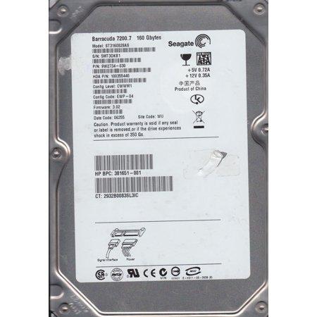 160 Gb Mini Laptop - ST3160828AS, 5MT, WU, PN 9W2734-030, FW 3.02, Seagate 160GB SATA 3.5 Hard Drive