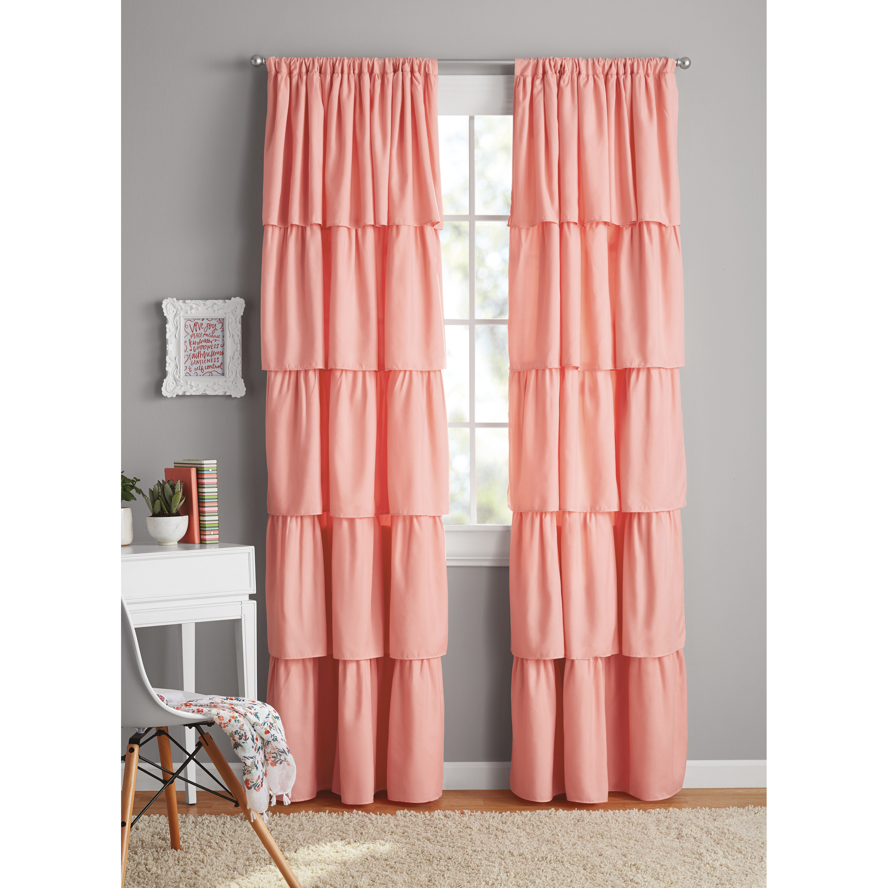 Your Zone Ruffle Girls Bedroom Curtain by Your Zone