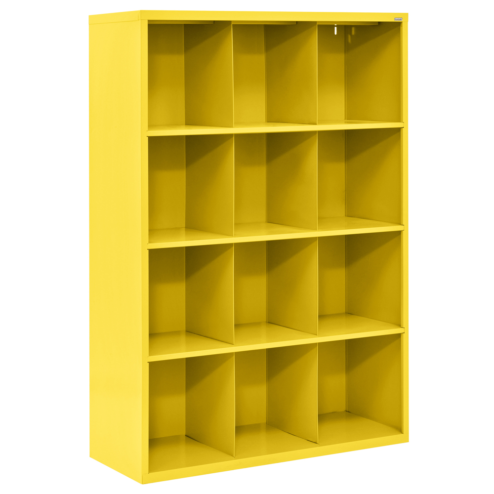 Cubby 66 in. Height All Steel Storage Organizer in Yellow