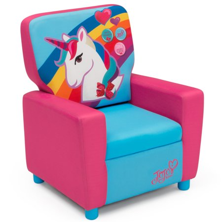 JoJo Siwa Youth High Back Upholstered Chair by Delta (Delta Childrens Products Spider Man Figural Chair)