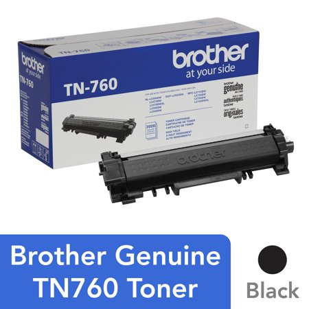Brother Genuine Cartridge TN760 High-Yield Toner, Mono-Laser/Black - 3,000