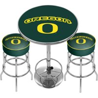 University of Oregon Game Room Combo, 2 Bar Stools and Table