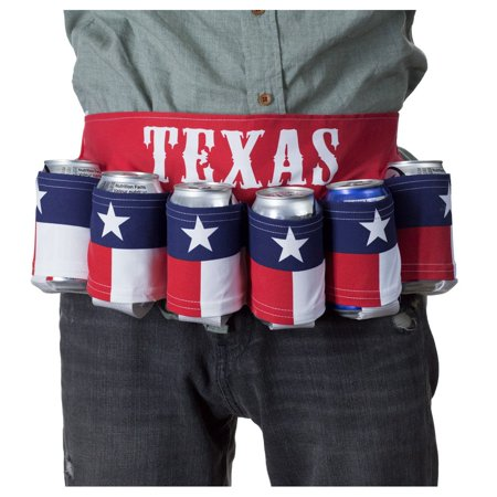 Calhoun Texas Flag Novelty Beverage Holder Beer Belt