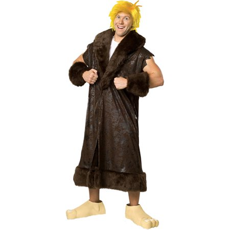 Barney Rubble GT Adult Halloween Costume - One Size 44-52](Barney Halloween Costume Adults)