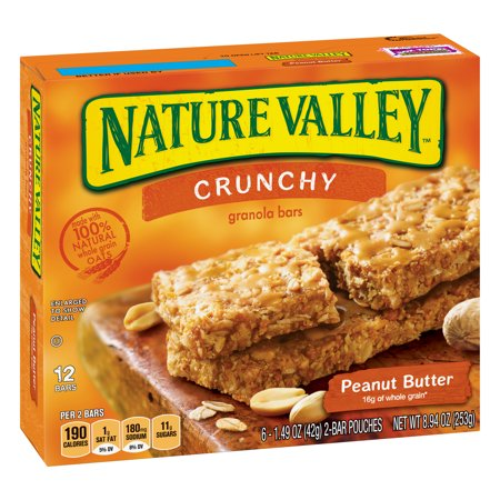 (Nature Valley Granola Bars Crunchy Peanut Butter (Total 12 Bars))