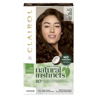 Clairol Natural Instincts Semi-Permanent Hair Color, 4 Dark Brown