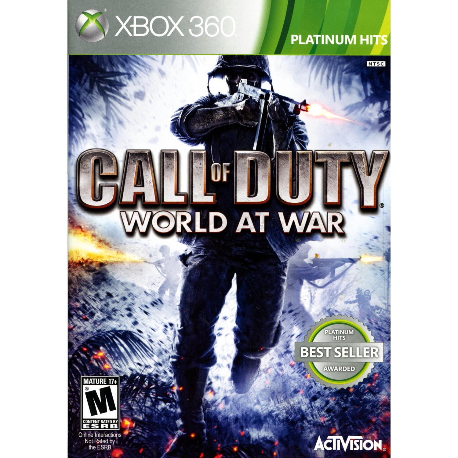 Video Games ETC! Call of Duty World At War Backwards Compatible, Activision, Xbox, 360, 047875881921