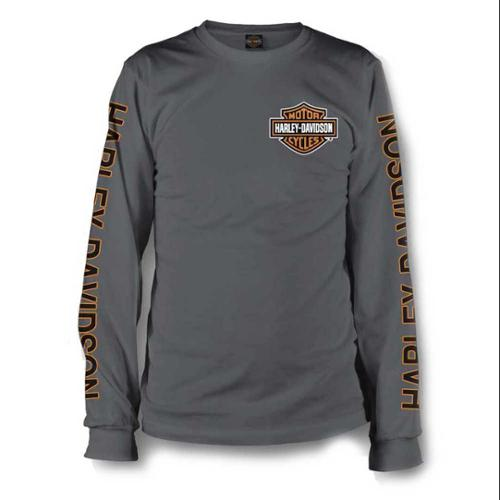 Top of the World NCAA Mens Modern Fit Premium Tri-Blend Long Sleeve Gray Heather Distressed State Icon Tee
