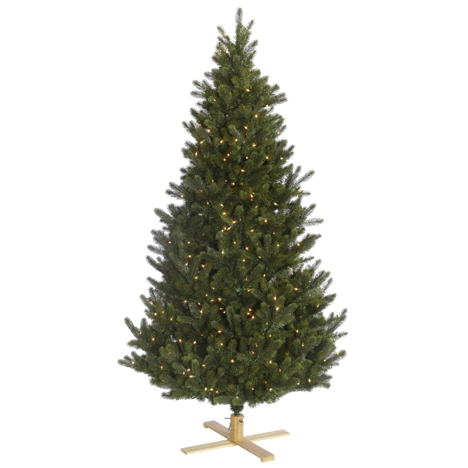 6' Pre-Lit Redwood Fir Slim Artificial Christmas Tree - Clear Lights