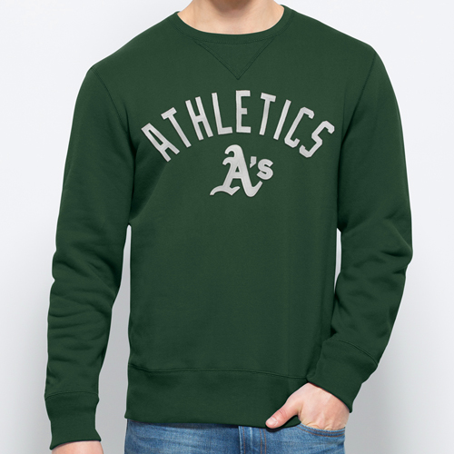 Oakland Athletics '47 Cross Check Screened Sweater - Green