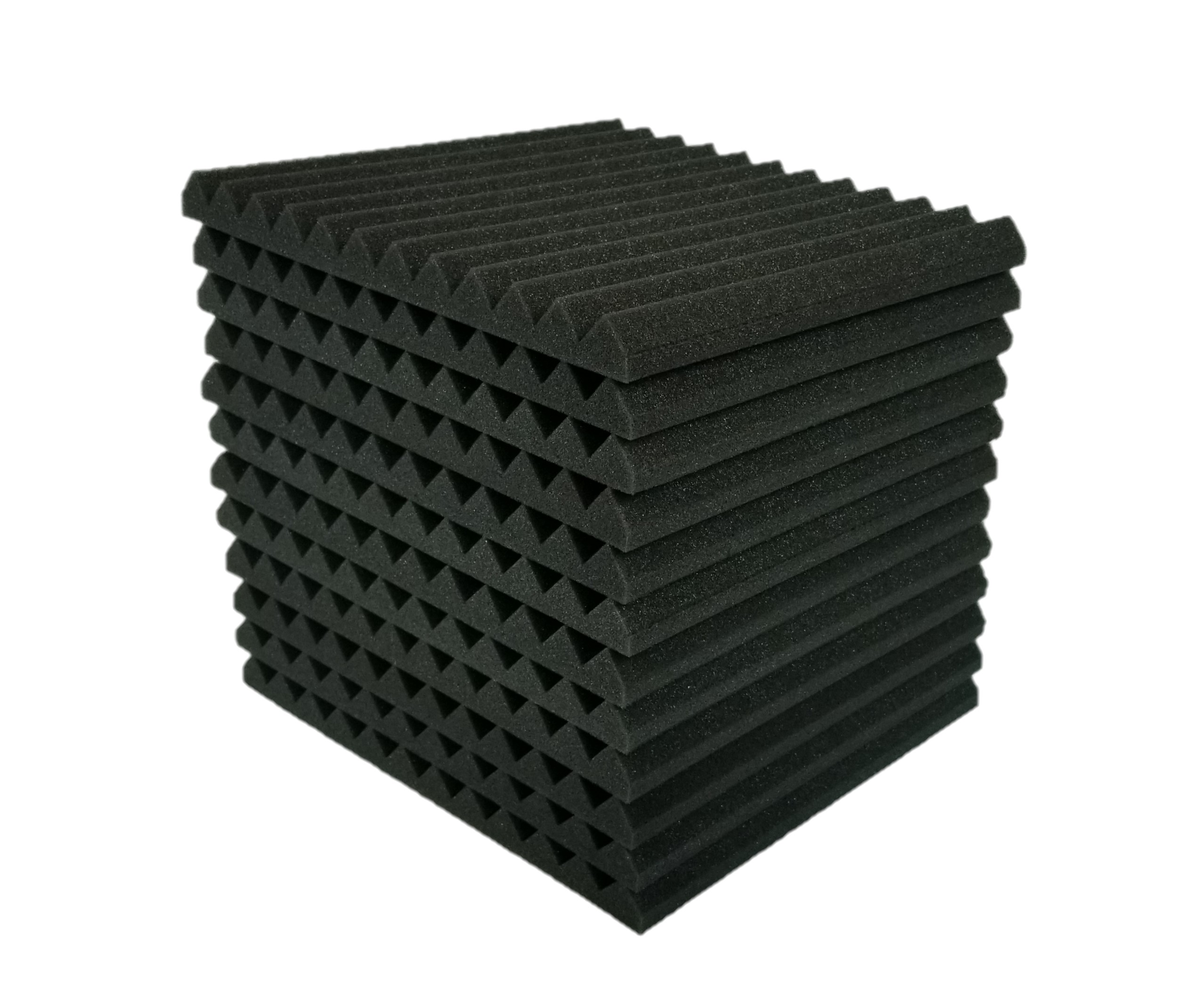12Pack, Black/&Red Ideal for Home /& Studio Sound Insulation Top Quality 12 Pack Black/&Red Acoustic Foam Panels 2 X 12 X 12 Soundproofing Studio Foam Wedge Tiles Fireproof