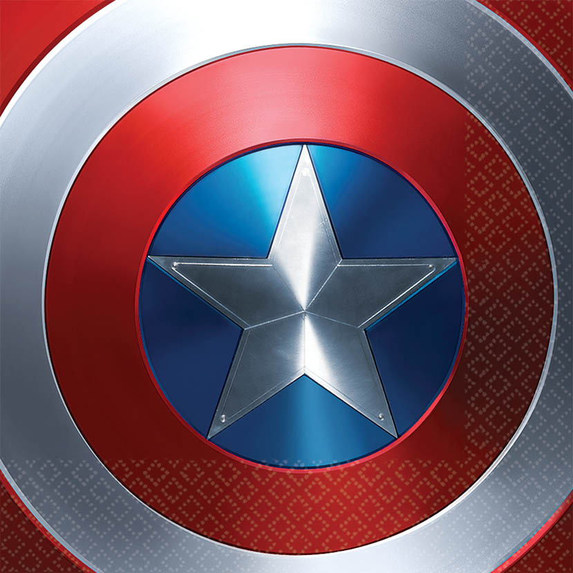 Captain America Shield Luncheon Napkin (125 Count) - Party Supplies