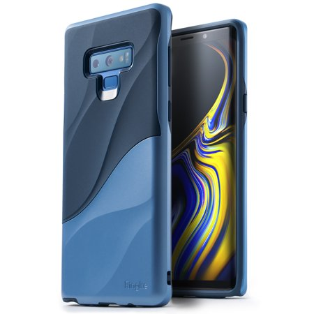 Galaxy Note 9 Case, Ringke [WAVE] Dual Layer Heavy Duty 3D Textured Shock Absorbent PC TPU Full Body Pretective Cover for Samsung Galaxy Note9 - Coastal Blue