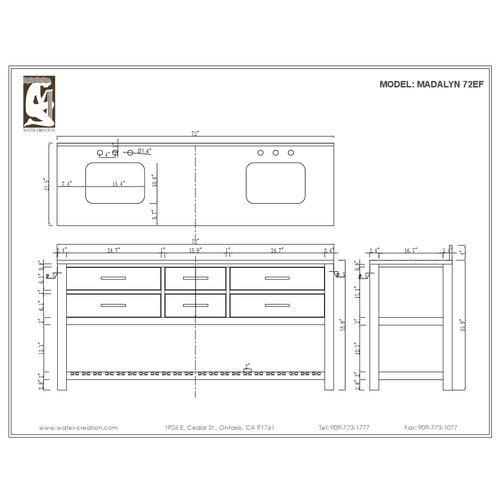 Dcor Design 72 39 39 Double Sink Bathroom Vanity Set