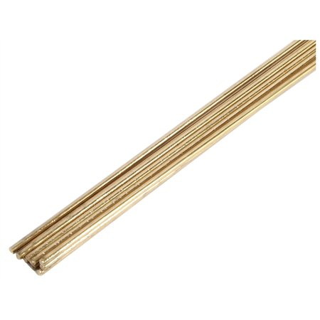 Brass Brazing Rod (8917130,GAS BRAZING RODS,LOW FUMING BARE BRASS ,10 COUNT,,Dia x Lgth In=1/8 x)