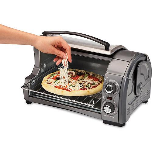 Hamilton Beach Easy Reach 4-Slice Toaster Oven, Silver/Black, 31334