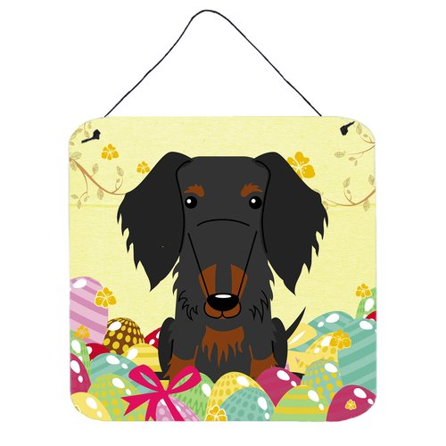 The Holiday Aisle Easter Eggs Wire Haired Dachshund Wall D cor