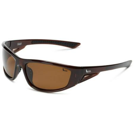 Coleman Highlander C6025 C3 Polarized Rectangular Sunglasses,Shiny Brown,139 mm