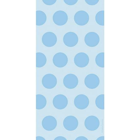 Pastel Blue Polka Dot Favor Bags, 20pk (Blue Pastel)
