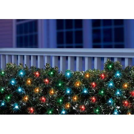 holiday time led christmas net light set multi bulbs150 count - Netted Christmas Lights