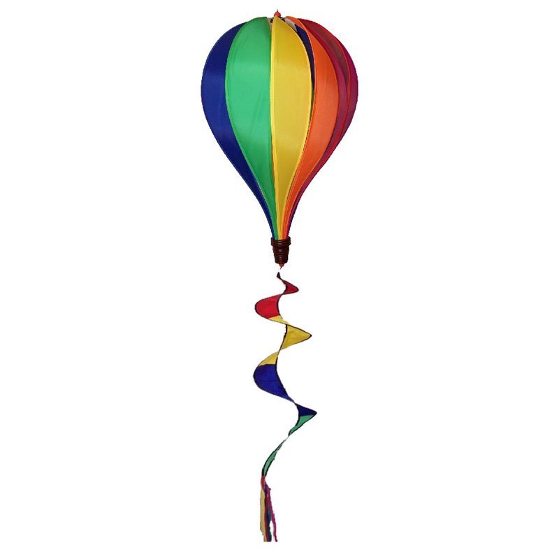 In the Breeze Rainbow Hot Air Balloon with 12 Panels Wind Spinner by Gold Crest Distributing LLC