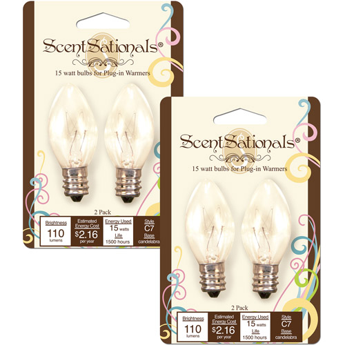 ScentSationals 15W Light Bulbs, 2pk