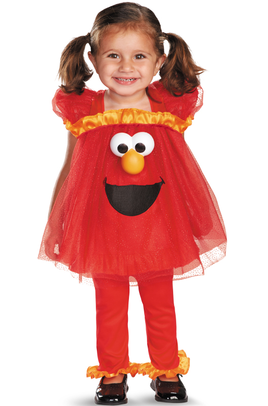 Sesame Street Frilly Light Up Elmo Infant Toddler Costume by Disguise