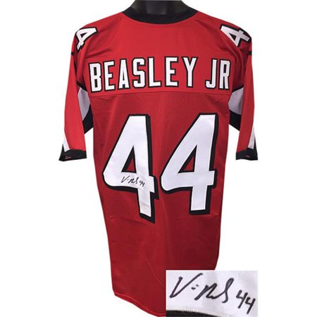 RDB Holdings & Consulting CTBL-021613 Vic Beasley, Jr. Signaturened Red Stitched Football Jersey No.44, Extra Large Minor Spot - image 1 of 1