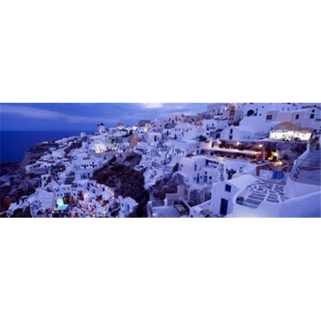 Panoramic Images PPI87754L High angle view of buildings in a city  Santorini  Cyclades Islands  Greece Poster Print by Panoramic Images - 36 x 12