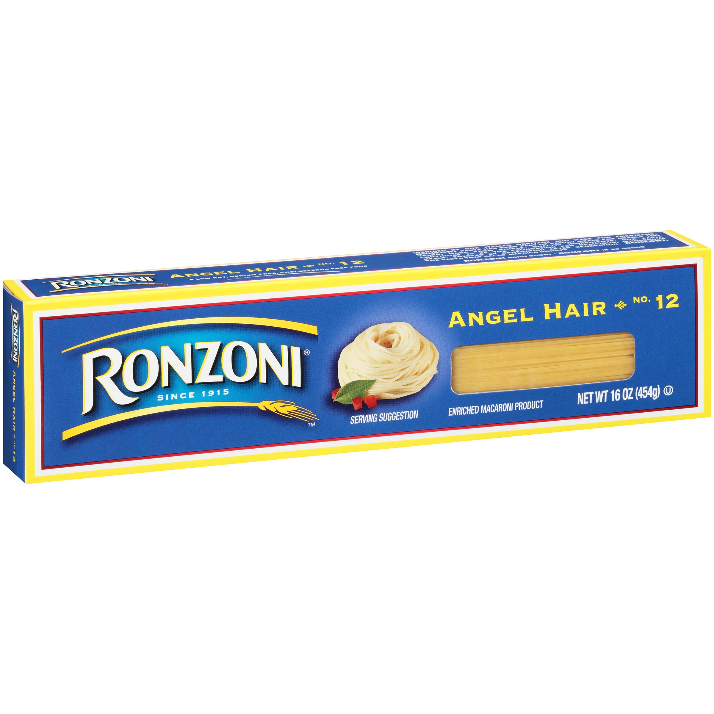 Ronzoni No 12 Angel Hair Pasta 16 Ounce Box Walmart Com