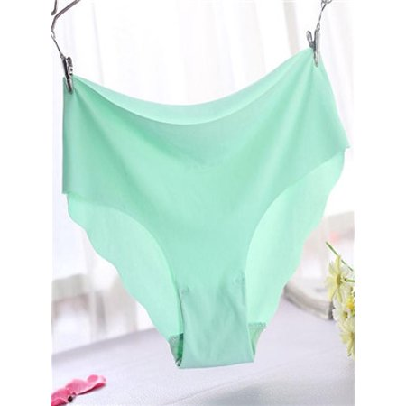 Women Invisible Underwear Thong Cotton Spandex Gas Seamless Crotch MG (Invisible Thong)