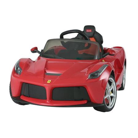 La Ferrari Ride on Remote Control electric power car for kids 12 Volt LED lights MP3 Engine sounds sport design - -