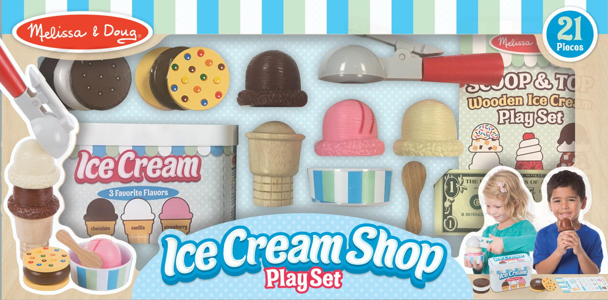 Melissa Doug 21 Piece Ice Cream Shop Play Set