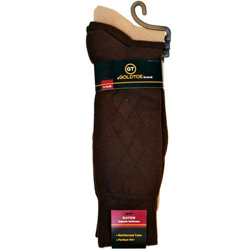 Gold Toe Big Boys/' 3 Pack Microfiber Dress Sock Black Large Free Shipping