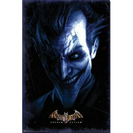 Batman Arkham Asylum   Joker Poster Print
