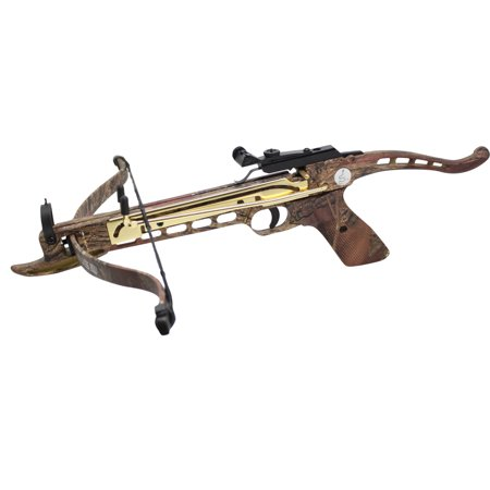 80 Pound Aluminum Self-cocking Pistol Crossbow with 27 Bolts and Extra String thumbnail