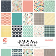 Colorbok Wild & Free Designer Paper, 50 Count