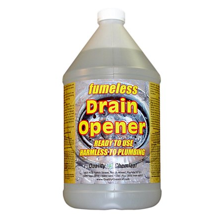 Fumeless Drain Opener - Professional Strength - Fast Acting - 1 gallon (128 (Best Drain Cleaner For Roots)
