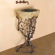 Quiescence Aspen Metal 22'' Pedestal Bathroom Sink