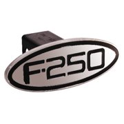 Ford - F-250 - Black - Oval - 2 Inch Billet Hitch Cover