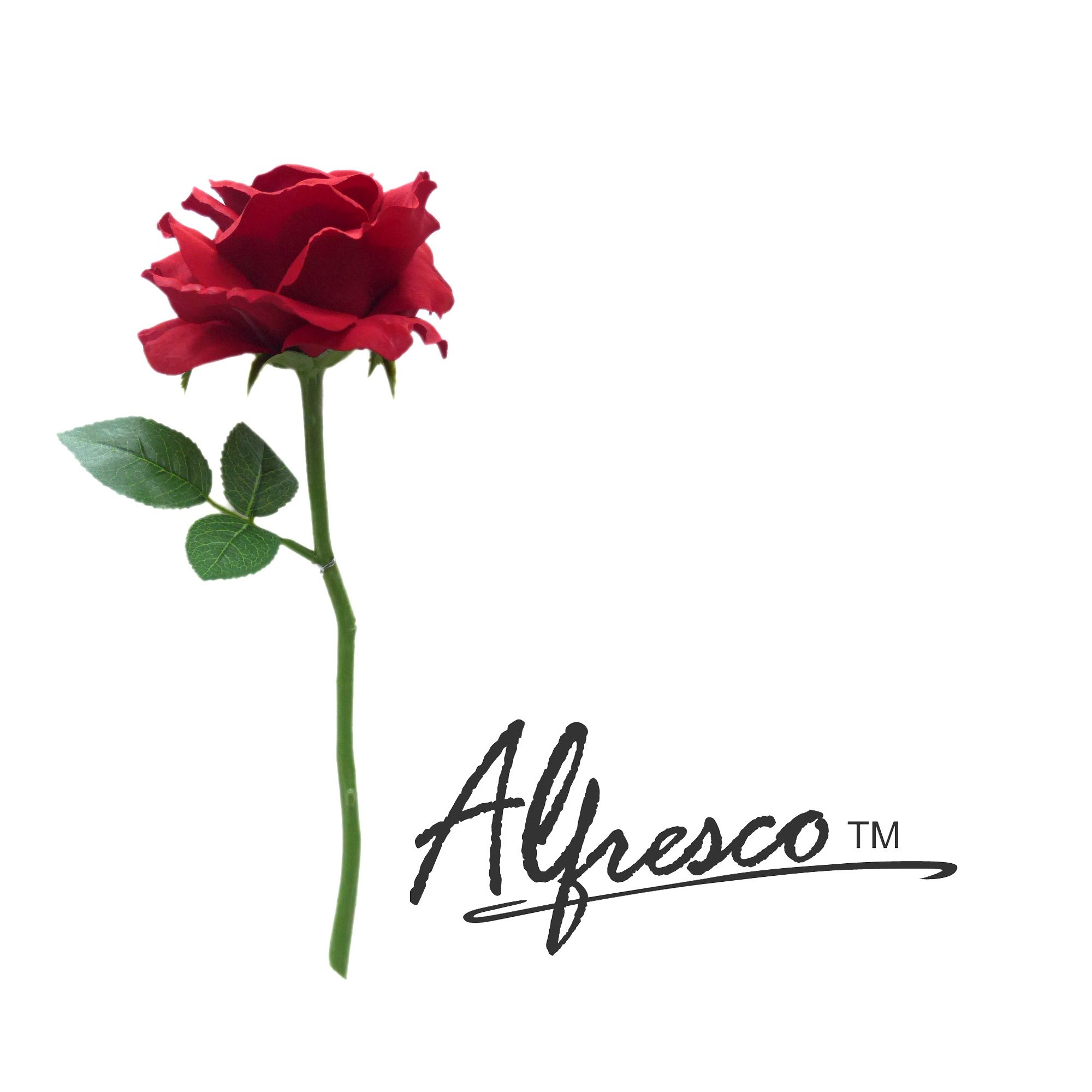 12.5'' Alfresco Decorative Artificial Flower Red Rose