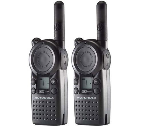 Motorola CLS1110 Professional Two Way Radios (2 Pack) With 15 Floor Indoor Range