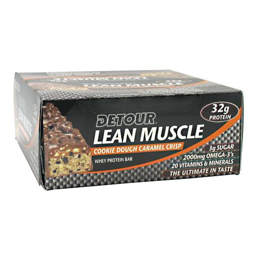 Forward Foods Detour Lean Muscle Whey Protein Bar, Cookie Dough Caramel Crisp Bar, 12 bars by