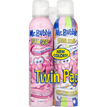 Foam Body Soap - (Twin Pack) Mr. Bubble Foam Soap, Rotating Scents, 8 Oz