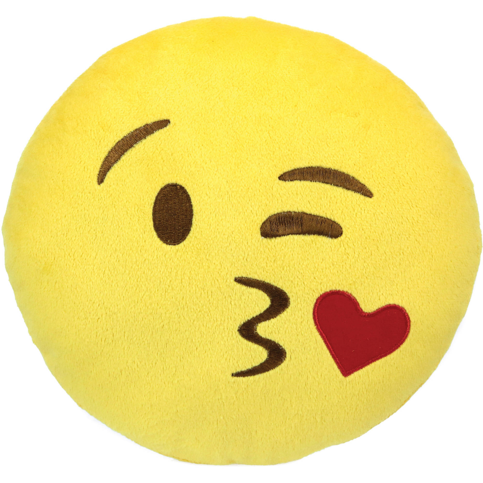 Emoji Small Pillow, Face Throwing a Kiss